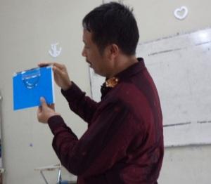 Penjelasan penggunaan klinometer