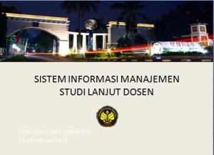 Info SIM Studi lanjut Dosen